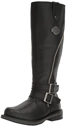 Harley-Davidson Women's Sennett Riding Boot, Black, 8.5 M US (Harley Riding Davidson)