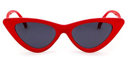 ab0855b101 Clout Goggles Cat Eye Sunglasses Vintage Mod Style Retro Kurt Cobain  Sunglasses (Red  smoke