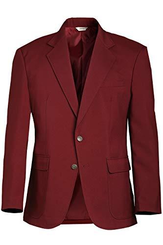 Edwards Men's Single-Breasted Blazer 58 Regular Burgundy