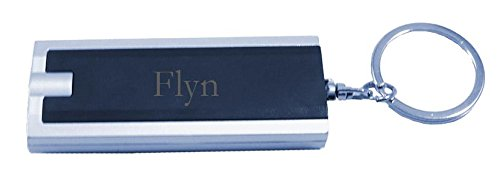 Personalized plastic keychain with LED lights with name Flyn (first name/surname/nickname)