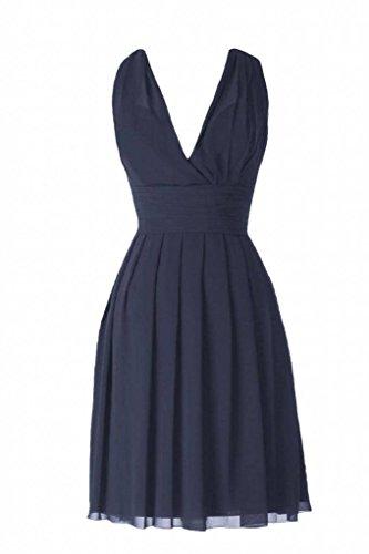 Party Length DaisyFormals V Neck Bridesmaid 35 navy Chiffon BM2326 Dress Knee Dress 0wxqCBS