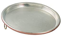 ITALY PROFESSIONAL TINNED COPPER PIZZA PAN CM 30