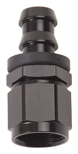 Russell 624023 Twist-Lok  Black 8-AN Straight Hose End
