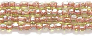 Preciosa Ornela Czech 3-Cut Style Seed Glass Bead, Size 9/0, Color Lined Red -