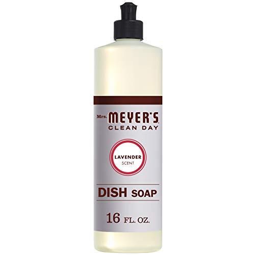 Mrs. Meyer's Clean Day Liquid Dish Soap, Lavender Scent, 16 ounce bottle