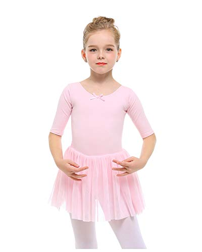 STELLE Toddler/Girls Cute Tutu Dress Ballet Leotard for Dance