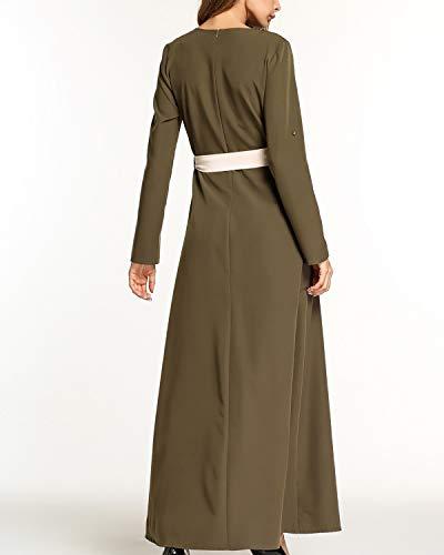 Cinturón Mujer Kervinfendriyun Encaje Cintura Yy4 Green Croché Vestido Y Army Para Alta Con De Abalorios RYw7R8qr
