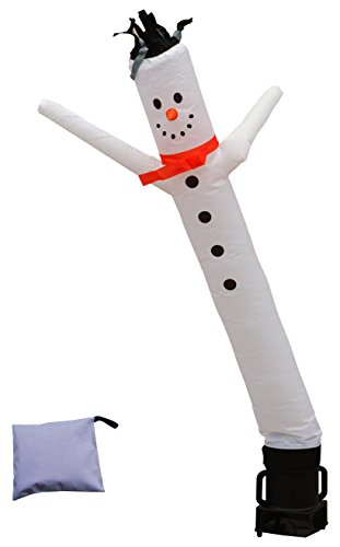 LookOurWay Snowman 6ft Tall Air Dancers Inflatable Tube Complete Set with 1/4 HP Sky Dancer Blower