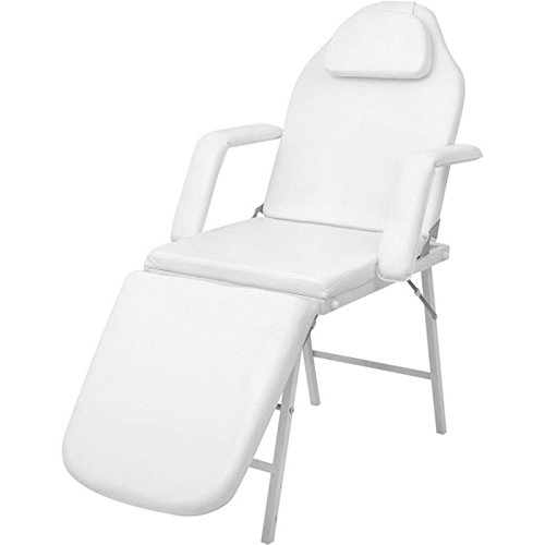 73″ Portable Tattoo Parlor Spa Salon Facial Bed Beauty Massage Table Chair White TKT-11