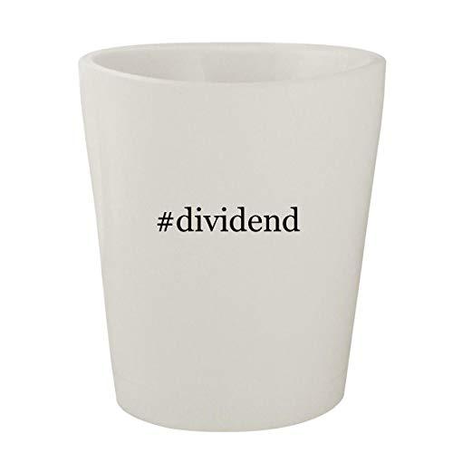 #dividend - White Hashtag Ceramic 1.5oz Shot Glass