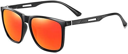 JFHGNJ Polarisierte Sonnenbrille Männer Fahren Angeln Laufen Männliche Quadrat Sonnenbrille Retro Anti-Blendung-C1 rot_0