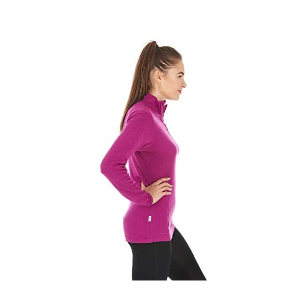 Minus33 Merino Wool 814 Sequoia Women's Midweight 1/4 Zip - Anti Odor No Itch Renewable Fabric