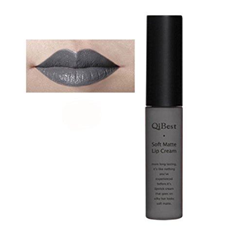 Fullkang Waterproof Matte Liquid Long Lasting Lip Gloss Lipstick 34 Colors (Gray - Matte Color Gray