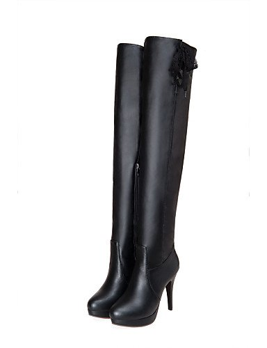 Stiefel Damen Beute Outdoor Beute Damen Zulaufender Stiletto Spitz Stiefel Heel Citior Schuhe Kleid Fashion Zehenbereich qw78ZwOEW