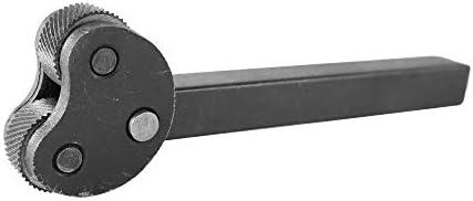 GENERICS LSB-Werkzeuge, 1pcs bewegliches doppeltes Rad Rändel Multifunktions Rändelwerkzeug Stahl Knurling Rändelrad Werkzeugdrehschneider Rod Industrie Lath (Größe : 0.8 * 0.4 * 0.3in)