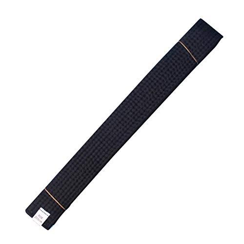 Taekwondo Colored Ranking Belts Cotton Martial Arts Judo Karate TKD Aikido Uniform Belt Adult (Black, 280cm)