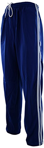 (ChoiceApparel Mens Warm Up Track Pants with Stripes (L, MTC-Royal))