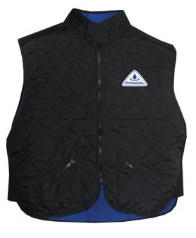 Cooling Sport Vest High Collar Black (XXL)