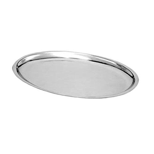 Sizzling Platter Steel Stainless (Thunder Group Stainless Steel Sizzling Oval Platter, 11-5/8 by 8-Inch)