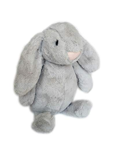 MeMol Baby Bunny Rabbit Plush Toy Soft Stuffed Animal (Grey, 12 inches)
