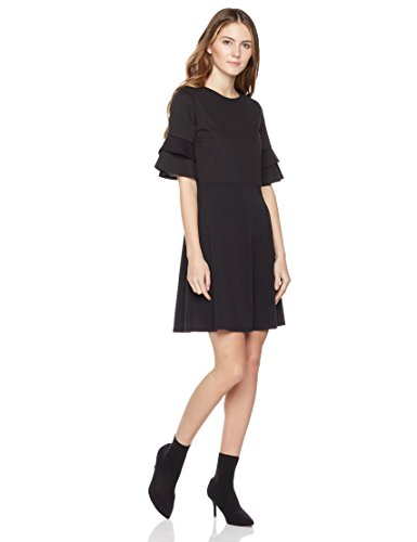 Ponte Dress (Painted Heart Women's Elbow-Sleeve Ponte Fit-and-Flare Dress Large Black)