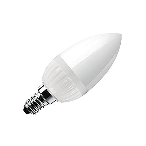 7 X Bombilla LED Vela E14 frost 3W, Blanco cálido: Amazon.es: Iluminación