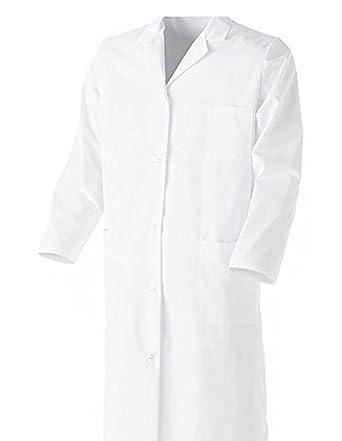 Bata química para laboratorio, 100% algodón, unisex, manga larga, para adulto/estudiantes, color blanco blanco X-Small : Amazon.es: Ropa y accesorios