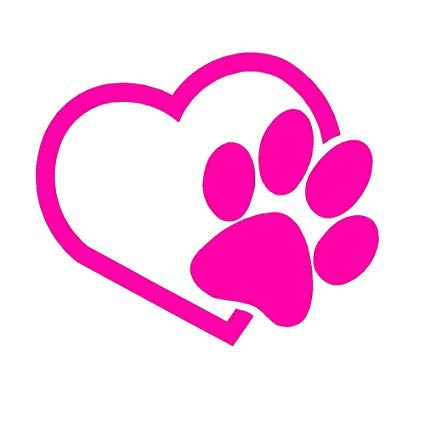 (HEART with DOG PAW Puppy Love 4