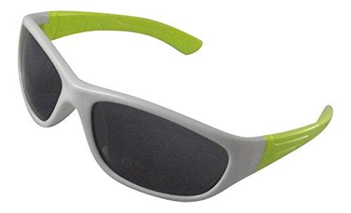 Childrens Kids White and Green Wraparound Sunglasses UV400 - Sunglasses Eco Uk