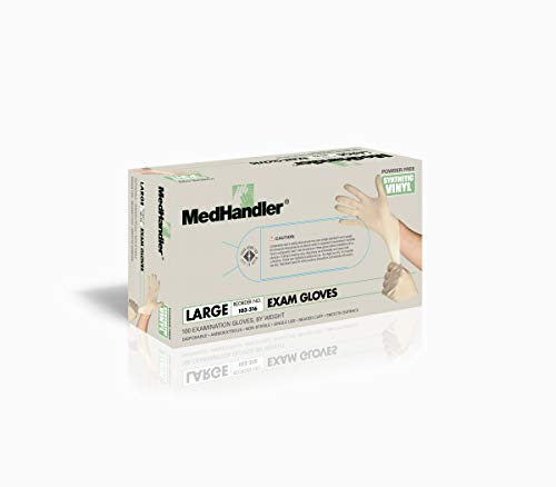 MedHandler 103-316 MedHandler Exam-Grade, Synthetic Vinyl, LG, Natural (Pack of 1000) by MedHandler (Image #1)