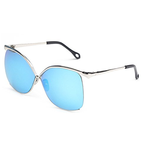 Sinkfish SG80055 Sunglasses for Women,Anti-UV & Fashion - UV400/Aliceblue Frames/Skyblue Lens (Sale For Oakley Sunglasses)
