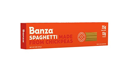 Banza Chickpea Pasta – High Protein Gluten Free Healthy Pasta (Pack of 6) (Spaghetti)