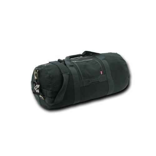 Rapiddominance Side Zip Duffle Bag, Black, Medium