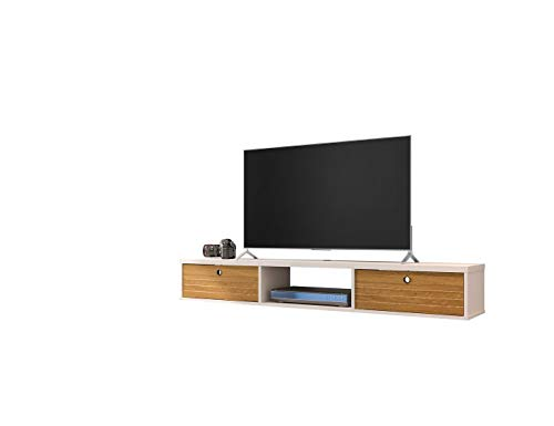 Manhattan Comfort 220BMC Liberty Contemporary Living Room Wall Mounted Entertainment Center with TV Panel, 62.99