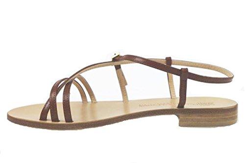 PIETRO PAOLO FERRARA AP882 Sandalias mujer cuero marrón marrón
