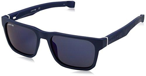Lacoste Men's Men's Lacoste L877s Plastic Magnetic Square Sunglasses L877S-424 Square Sunglasses, Matte Blue, 55 mm (Sunglasses Lacoste Red)