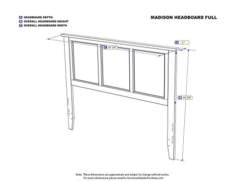 Bedroom Atlantic Furniture Madison Headboard, Full, White,AR286832 farmhouse headboards