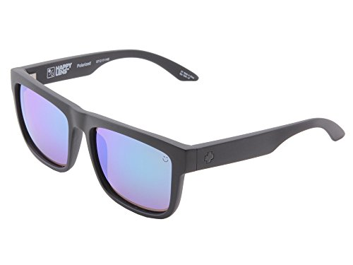Spy Optic Discord Sunglasses Matte Black w/ Happy Bronze Polarized Green Spectra Lens + - Spy Discord Lens Happy