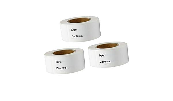 Sharplace 3 Rollos de 375 Piezas de Etiquetas Pegatinas Adhesivas ...