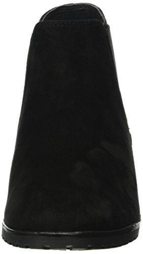 Caprice 25350, Botines para Mujer Negro (BLACK SUEDE 4)