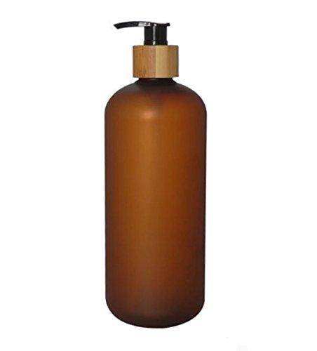 Soap Ml Liquid System 800 (1PCS 800ML Matte Press Pump Bottels With Bamboo Screw Pump-PET Plastic Bath Shower Shampoo Hair-Conditioner Liquid Soap Storage Containers Jar Pots(Amber))