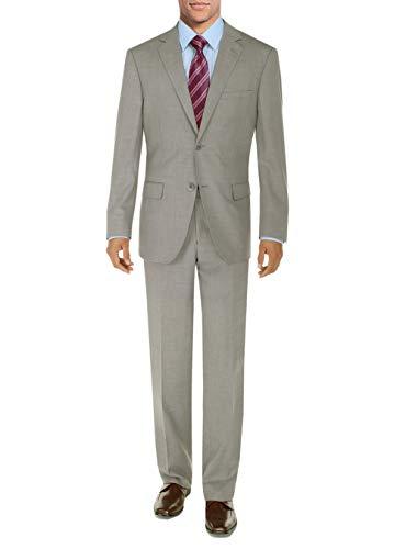 3f39d3b42ed8 DTI BB Signature Men's Suit 2 Button Modern Fit Side Vent Jacket Flat Front  Pant (48 Long US / 58L EU/W 42