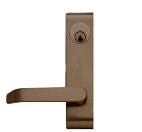 C.R. LAURENCE 7500LV02313 CRL Dark Bronze Jackson Locking Flat Lever Outside Trim