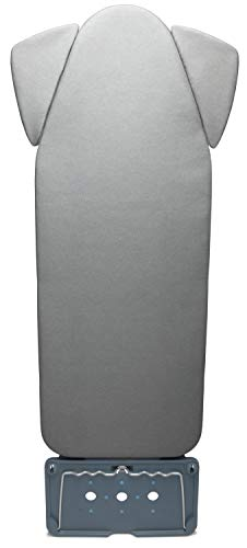 TIVIT Ironing Board Cover - Upgrade for Mabel Home PRO, Parker & Company 18 x 47 Extra Wide Boards w/Shoulder Wings - 3 Piece Aluminum Treated Covers w/3 Straps & Pull Bungee for Grip - Made in Italy