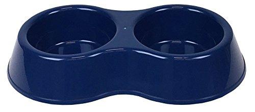 World Pet Double Pet Bowl, Blue