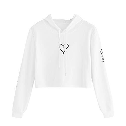 PeiZe Fashion Womens Winter Casual Hooded Sweatshirt Ladies Lovers Printed Long Sleeve Tops Blouse -