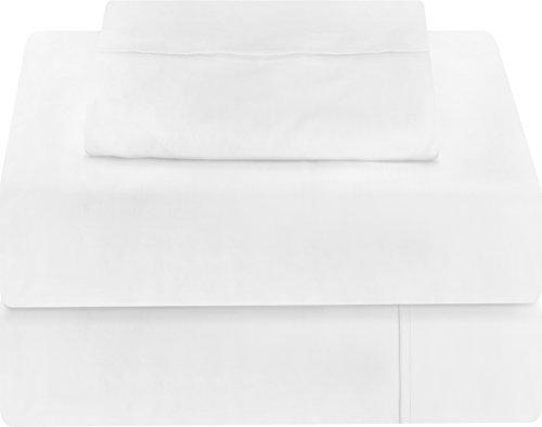 Premium 3 Piece Bed Sheet Set (Twin, White) 1...