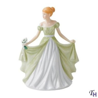 (Royal Doulton Pretty Ladies Flower Of The Month January Snowdrop 6.7