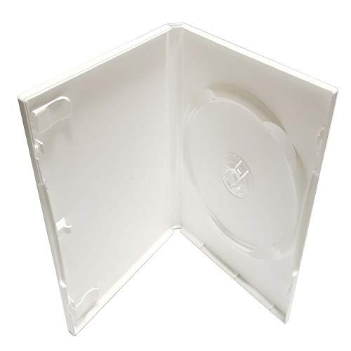 KEYIN Standard White DVD Case - Premium, 50 Pack