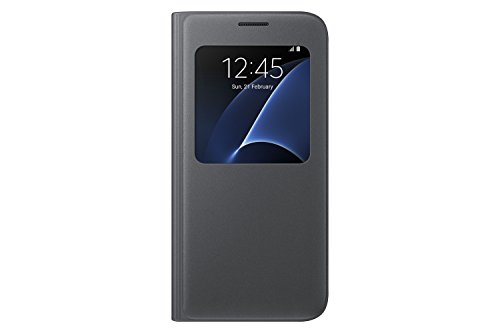 Samsung Galaxy S7 Case S-View Flip Cover - Black